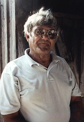 Elemore Morgan, Jr., J. C. Boudreaux at his home in Cameron, Louisiana, 1997.