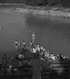 Arthur Rothstein, People swim at lake created by Norris Dam, TN, 1942.