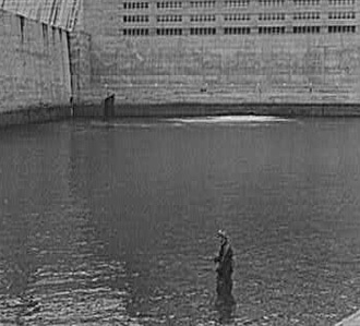 Arthur Rothstein, Man fishing at Norris Dam, TN, 1942.
