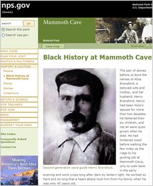 Black History at Mammoth Cave