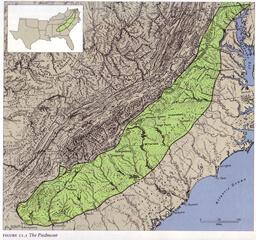 Figure 2.1 The Piedmont from James W. Clay, Paul D. Escott, Land of the South (Birmingham, AL: Oxmoor House, 1989).