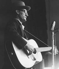 Peter Feldman, Roscoe Holcombe at folk festival, 1963