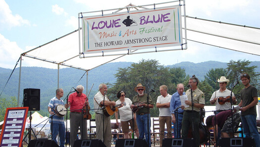 Tennessee Jamboree reunion at the Louie Bluie Music and Arts Festival, Caryville, Tennessee, June 2007