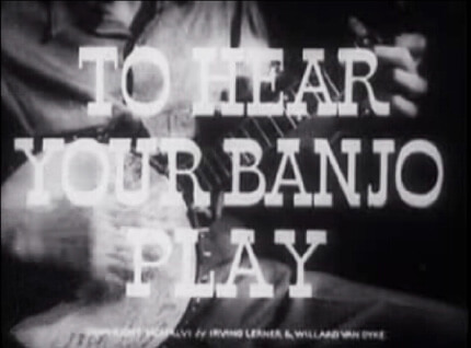 Still from To Hear Your Banjo Play (1947)