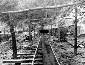 Entrance to Old Black Gold Mine, Perry County, Kentucky, late 1950s