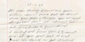 Letter from Roscoe Halcomb to John Cohen, 1964