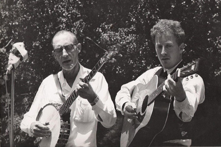 Roscoe Halcomb and John Cohen, Berkeley Folk Festival, 1962