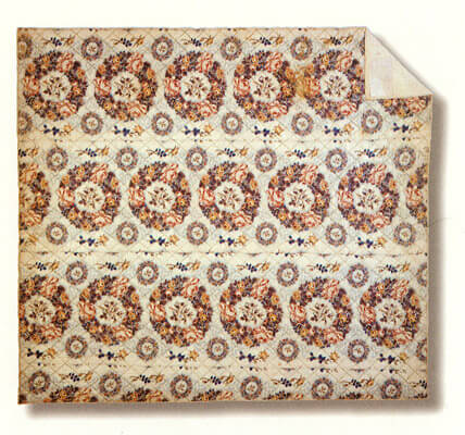 Laurel Horton, Whole Cloth Chintz Wedding Quilt, circa 1850