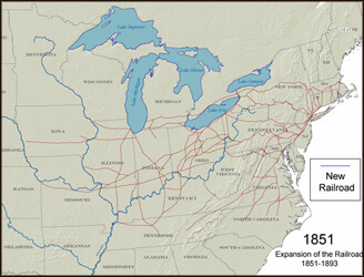 Expansion of the Pennsylvania Railroad 1851-1893.