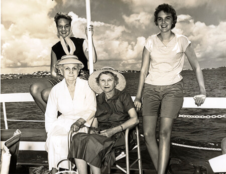 Rosa Black and Mary Kate Phillips with their nieces Marianna and Paula Black.