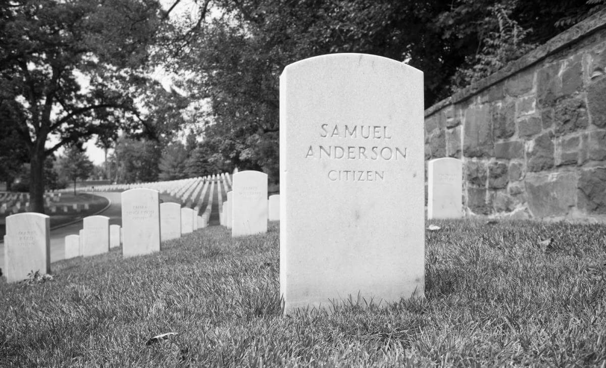 Arlington National Cemetery Grave Sites, Arlington, Virginia, July 2017. Photograph by Will Gallagher. © Will Gallagher.