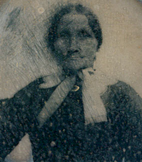 Maria Carter Syphax, ca. 1870. Daguerreotype by unknown creator. Courtesy of Arlington House, the Robert E. Lee Memorial, ARHO 6408.