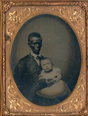 Charles Syphax (1791–1869) and William B. Syphax, ca. 1865. Daguerreotype by unknown creator. Courtesy of Arlington House, the Robert E. Lee Memorial, ARHO 6409.