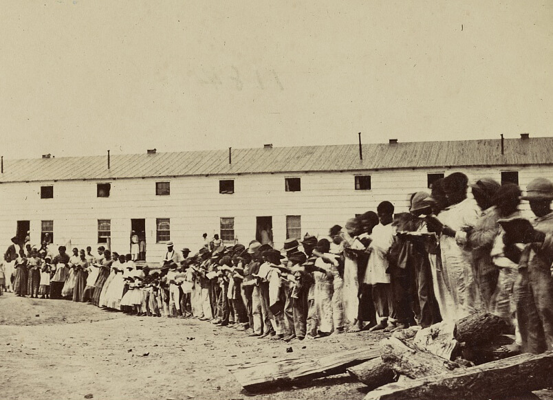 Freedman's Village, Arlington, Virginia, ca. 1865. Photograph by unknown creator. Courtesy of the Library of Congress Prints and Photographs Division, loc.gov/pictures/item/2014645761.