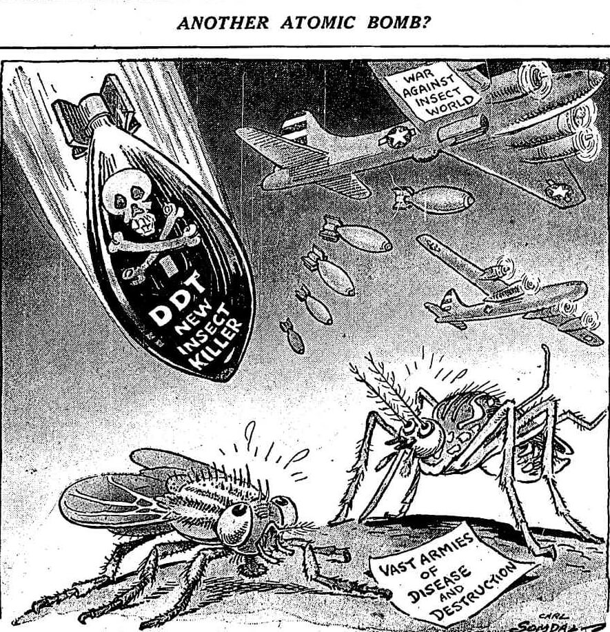 Another Atomic Bomb?, Chicago, Illinois, 1945. Cartoon by Carl Somdal. Originally published in Chicago Daily Tribune (August 24, 1945). Courtesy of Chicago Tribune Archives.