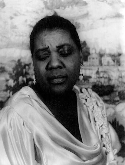 Portrait of Bessie Smith, February 3, 1936. Photograph by Carl Van Vechten. Courtesy of the Library of Congress, Prints and Photographs Division, loc.gov/item/2004663572.