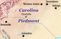 Sarah Toton, Carolina Piedmont map, 2006.