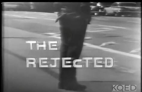 "Opening title sequence from television documentary ""The Rejected."" Originally aired by KQED, San Francisco, California, September 11, 1961. Screenshot courtesy of Eric Solomon."