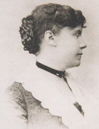 Constance Fenimore Woolson, ca. 1887. Photograph by unknown creator. Courtesy of Wikimedia Commons. Image in public domain.
