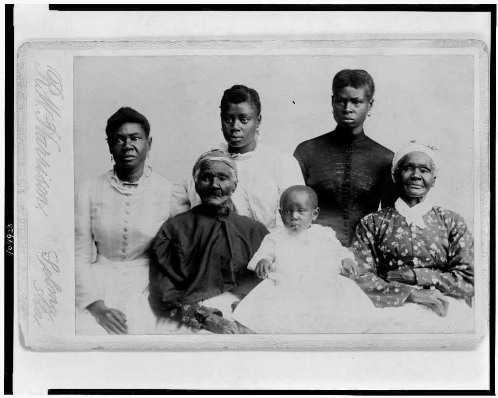 Six generations of African American women in Selma, Alabama, ca. 1893. Photograph by R.W. Harrison. Courtesy of the Library of Congress Prints and Photographs Division, https://www.loc.gov/resource/cph.3c04928/