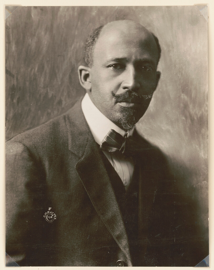 Black and white portrait of WEB Dubois, ca. 1918. Photograph by C.M. Battey. Courtesy of the Library of Congress Prints and Photographs Division, http://www.loc.gov/pictures/resource/cph.3a53178/