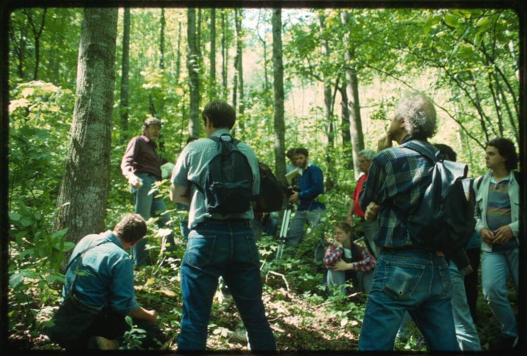 Photograph of Appalachia Forest Action Project volunteers in a forested area.