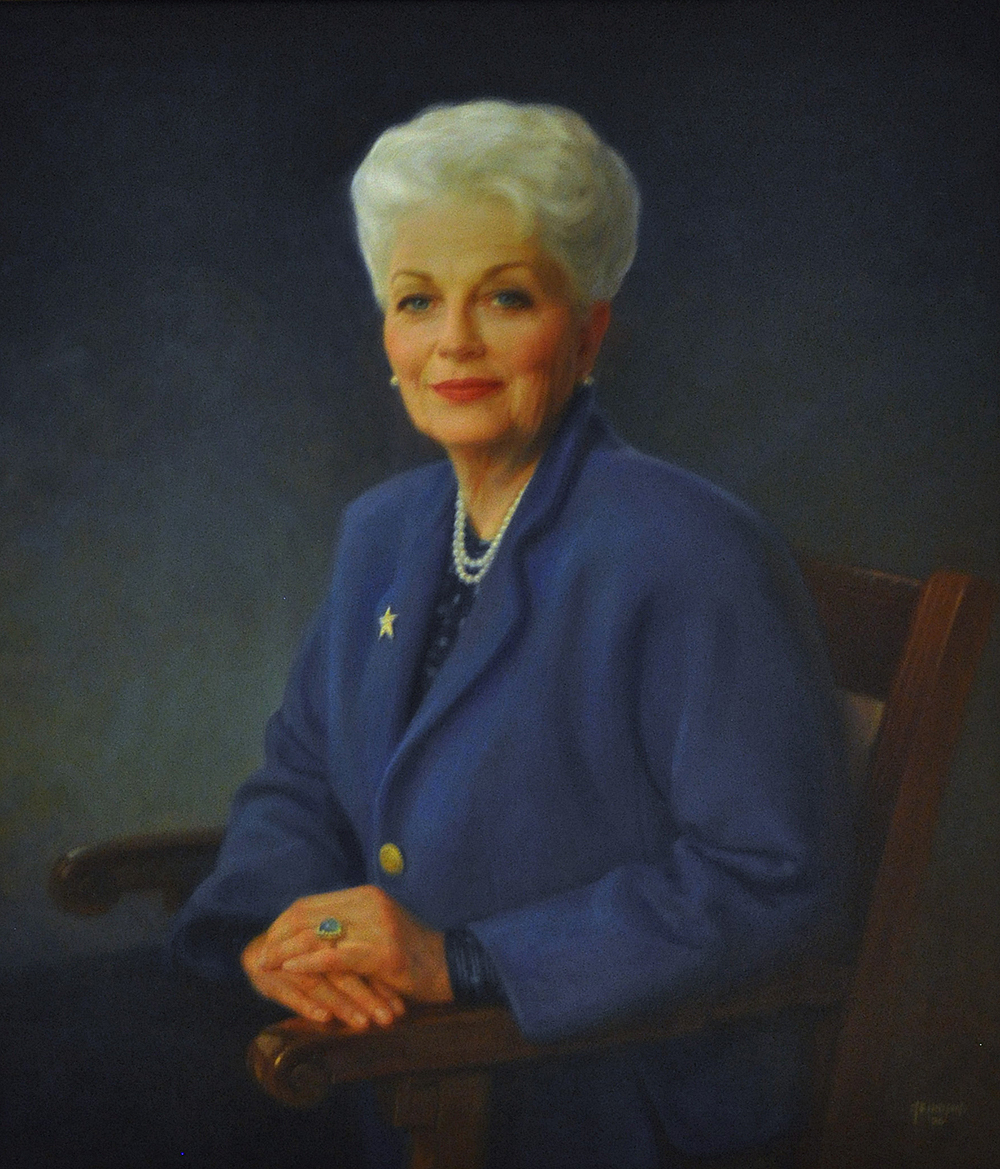 Portrait of former Texas Governor Ann Richards at the Texas capitol building. Photograph by Flickr user Larry Miller. Creative Commons license CC BY-NC 2.0.
