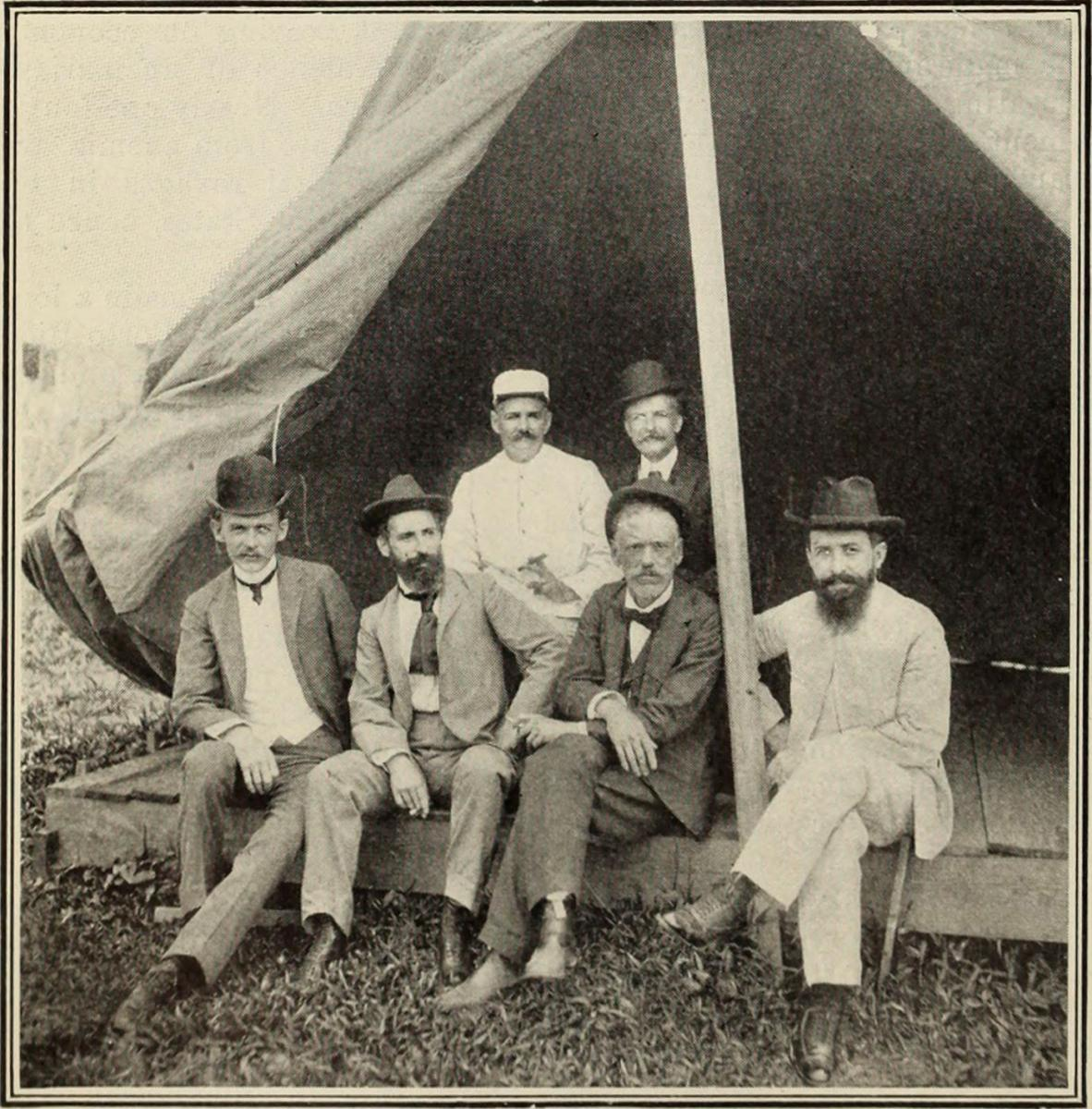 Group of United States Government and Native Physicians, including Dr. Bailey K. Ashford, Puerto Rico, ca. 1890. Image courtesy of Flickr user Internet Archive Book Images. Image is in public domain.