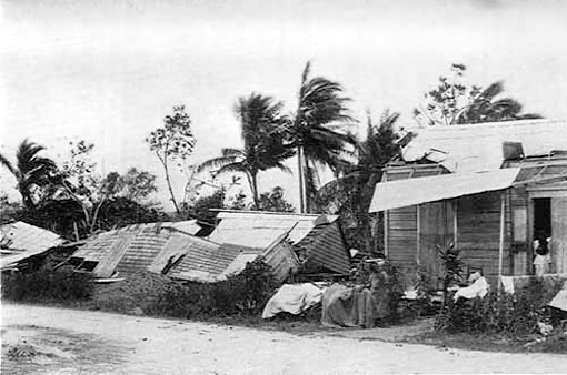 The results of the hurricane, 1899. Originally published in George W. Davis's Military Government of Porto Rico from October 18, 1898, to April 30, 1900 (Washington DC: US Government, 1902), 612. Courtesy of the Library of Congress Hispanic Division, loc.gov/rr/hispanic/1898/sanciriaco.html.