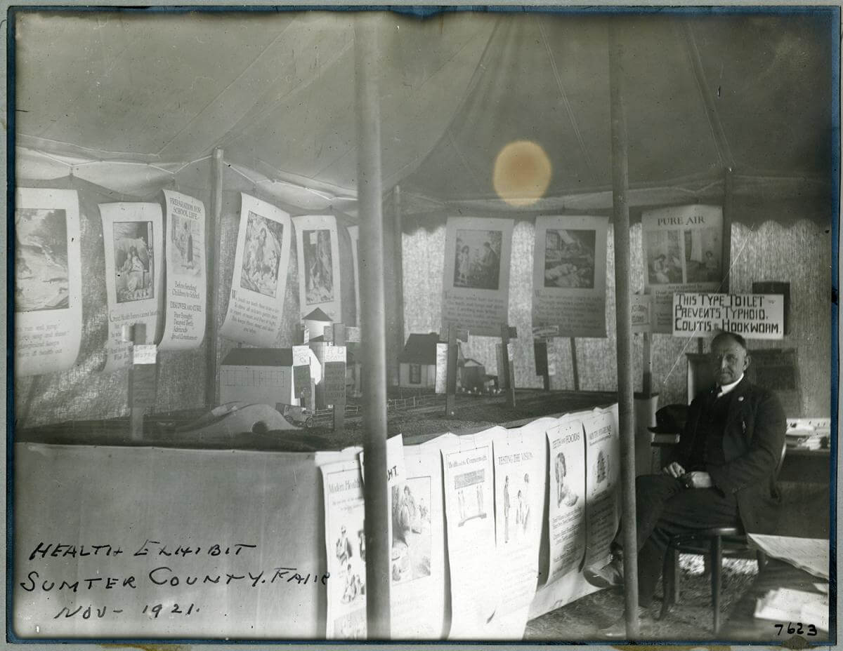 Health Exhibit, Sumter County Fair, November 1, 1921. Courtesy of the 100 Years: The Rockefeller Foundation website, Rockefeller Archive Center, Rockefeller Foundation.