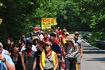 Blair Mountain March and Rally, Day Six, Blair Mountain, West Virginia, June 11, 2011. Flickr photograph by Mark Haller. Creative Commons License CC BY-NC-ND 2.0.