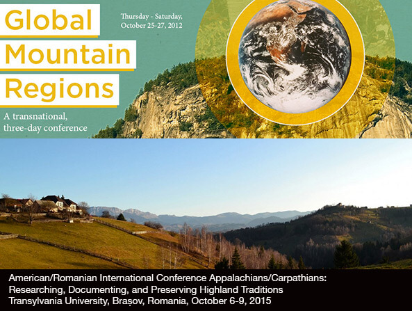 Global mountain regions conferences, University of Kentucky, 2012, and Transylvania University, Romania, 2015. Screenshot by Southern Spaces.
