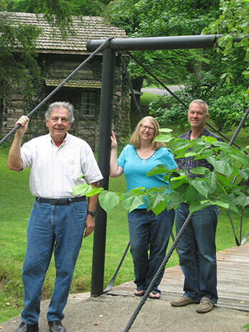Authors Phillip Obermiller, Chad Berry, and Shaunna Scott, Hindman Settlement School, Hindman, Kentucky, June 5, 2014. Photograph by Rita Ritchie. Courtesy of Hindman Settlement School.
