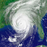 NOAA satellite image of Hurrican Katrina, August 29, 2005.