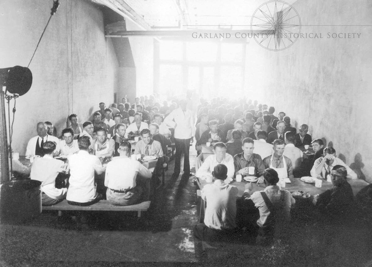 Inside Camp Garraday, date unknown. Courtesy of the Garland County Historical Society and Elliott Bowen.