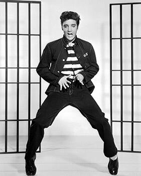 Jailhouse Rock, 1957. Promotional image featuring the film's star Elvis Presley. Courtesy of Metro-Goldwyn-Mayer, Inc.