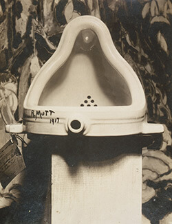 Fountain, 1917. Photograph by Alfred Stieglitz. Sculpture by Marcel Duchamp. From Henri-Pierre Roche, Beatrice Wood, and Marcel Duchamp, eds., The Blind Man No. 2 (New York, 1917), 4.