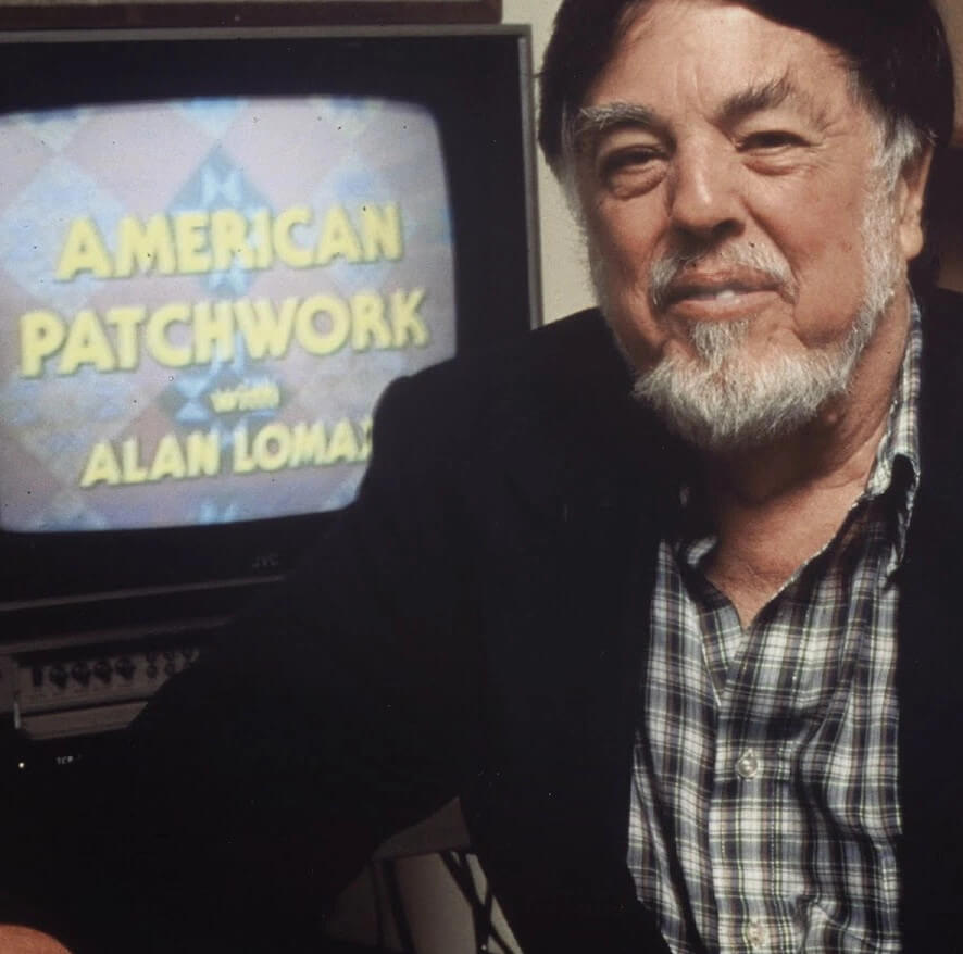 Promotional still for PBS's American Patchwork with Alan Lomax series (Public Broadcasting Service, 1991).
