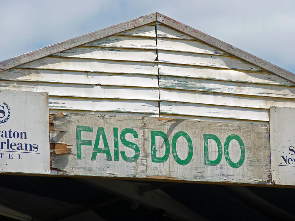 """Fais Do Do"" tent, New Orleans Jazz and Heritage Festival, New Orleans, Louisiana, April 27, 2012. Photograph by Flickr user Kevin Levine. Creative Commons license CC BY-NC-ND 2.0."