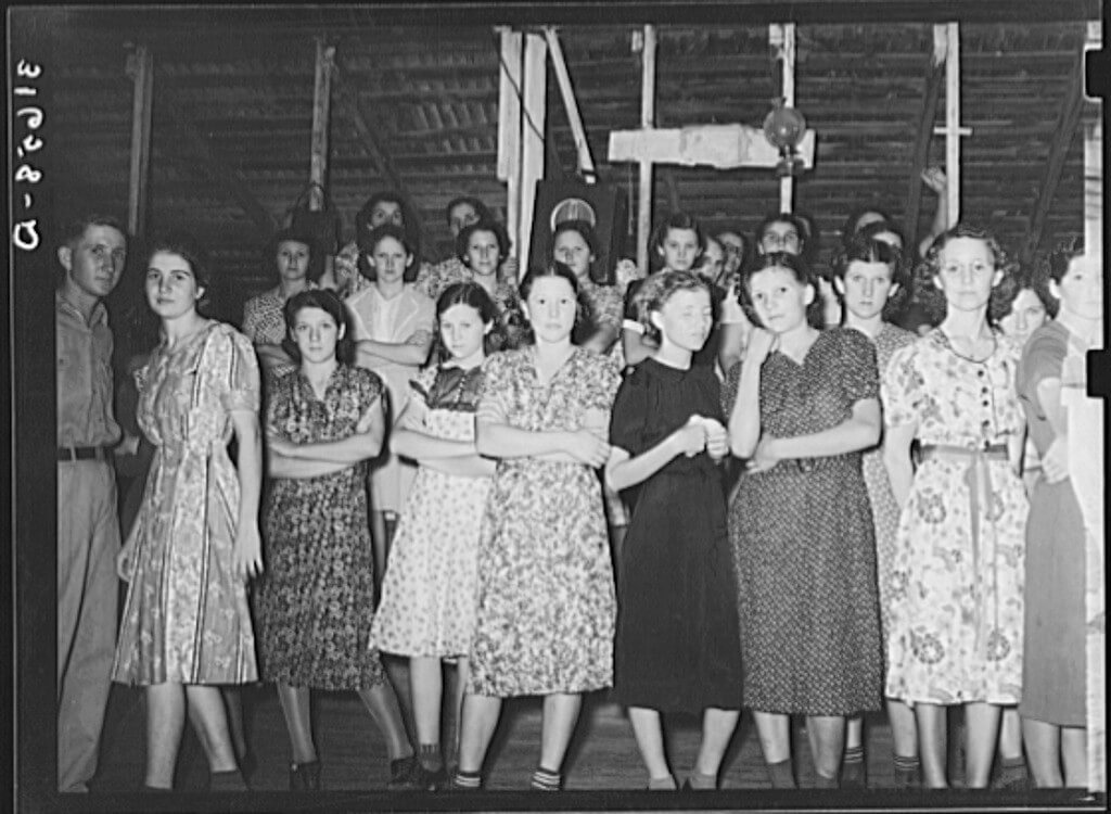 Cajun girls at Fais-do-do dance, Crowley, Louisiana, 1938. Photograph by Russell Lee. Courtesy of the Library of Congress, Prints and Photographs Division, Farm Security Administration/Office of War Information Photograph Collection, digital ID LC-USF34-031658-D.