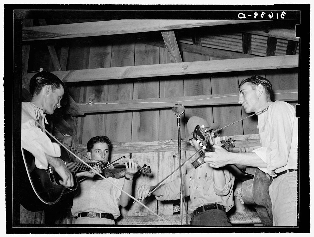 Cajun orchestra at Fais-do-do dance, Crowley, Louisiana, 1938. Photograph by Russell Lee. Courtesy of the Library of Congress, Prints and Photographs Division, Farm Security Administration/Office of War Information Photograph Collection, digital ID LC-DIG-fsa-8b20678.
