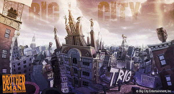 Big City Bird's Eye View. Artistic rendering by Dawud Anyabwile. Courtesy of Dawud Anyabwile.