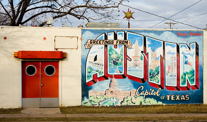 Greetings From Austin, Capitol of Texas. Photograph by Flickr user mirsasha (CC BY-NC-ND 2.0).