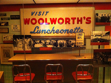 Woolworth's Counter Exhibit, Raleigh, North Carolina, 2012. Photograph by Tim Bounds. Courtesy of Tim Bounds. CC BY-NC 2.0.