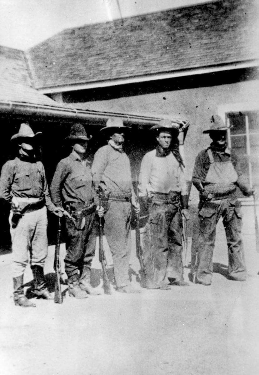 Texas Rangers at the Brite Ranch, near Marfa, Texas, 1918. Photograph by unknown creator. Courtesy of The Portal to Texas History, University of North Texas Libraries and Marfa Public Library.