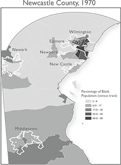 Michael Page, Percentage of Black Population in Newcastle County, Delaware in 1970, 2012.