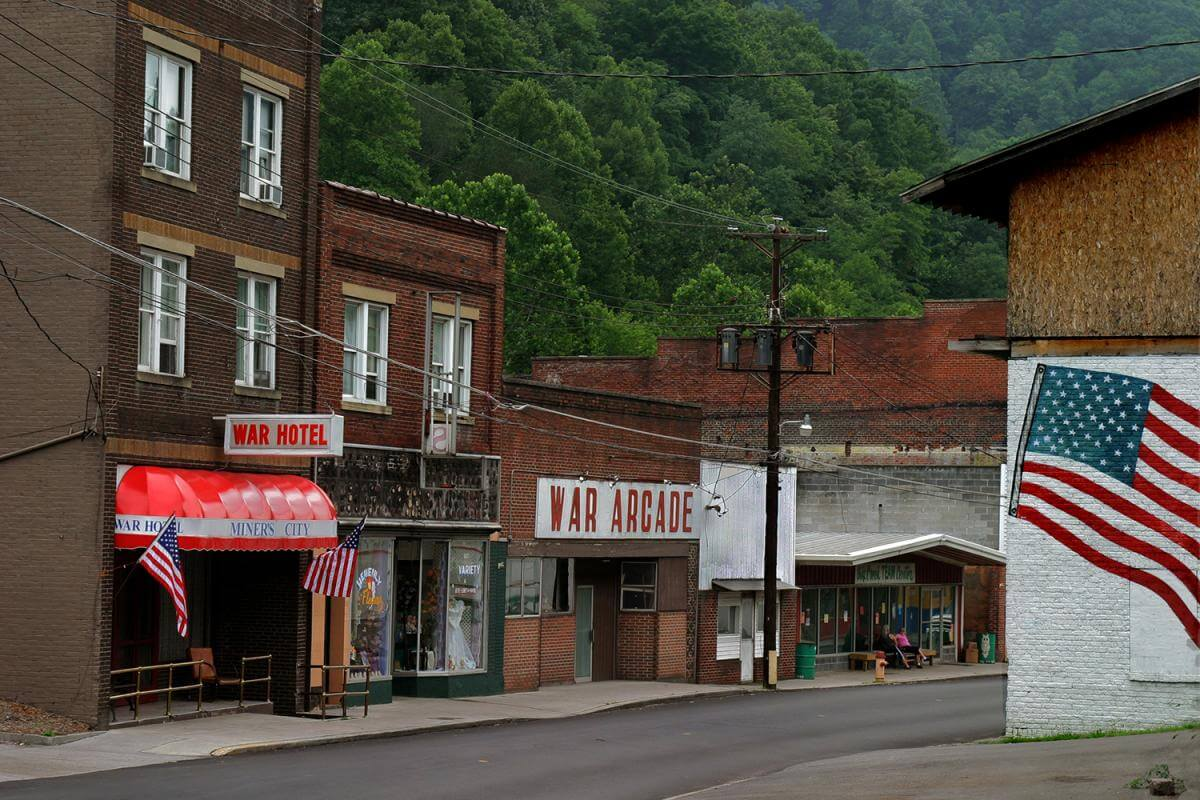 Downtown, War, WV in McDowell County, 2005.