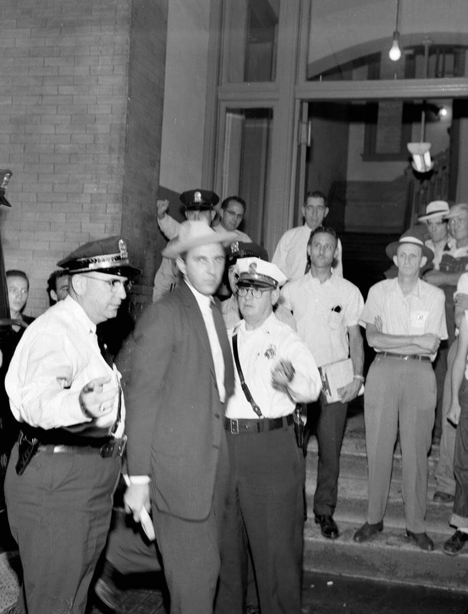 John Kasper in police custody, Nashville, TN, September 1957. © Nashville Public Library.​​