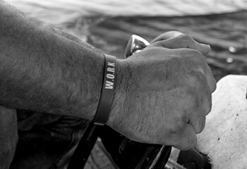 Work bracelet, Chauvin, Louisiana, June 2013. Photograph by Lindsey Feldman.