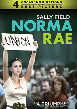 Cover of Norma Rae, directed by Martin Rich, Twentieth Century Fox Film Corporation, 1979. The 2001 DVD re-release cover of Norma Rae features Sally Field's title character in the film's most famous moment.
